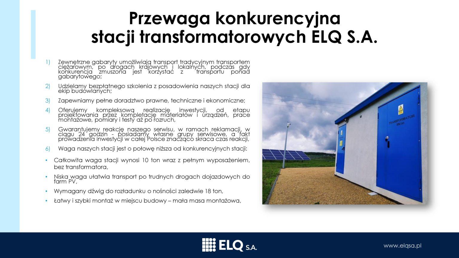 Zalety iprzewaga konkurencyjna ELQ3